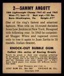 1948 Leaf #2  Sammy Angott  Back Thumbnail