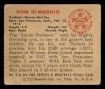 1950 Bowman #3  Dom DiMaggio  Back Thumbnail