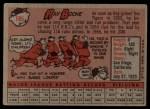 1958 Topps #185  Ray Boone  Back Thumbnail