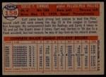 1957 Topps #158  Curt Simmons  Back Thumbnail