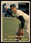 1957 Topps #365  Ossie Virgil  Front Thumbnail
