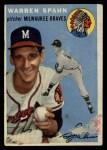 1954 Topps #20  Warren Spahn  Front Thumbnail