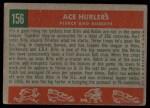 1959 Topps #156   -  Billy Pierce / Robin Roberts Ace Hurlers Back Thumbnail