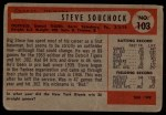 1954 Bowman #103 OF Steve Souchock  Back Thumbnail
