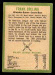 1963 Fleer #44  Frank Bolling  Back Thumbnail