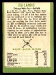 1963 Fleer #10  Jim Landis  Back Thumbnail