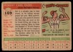 1955 Topps #169  Bob Oldis  Back Thumbnail