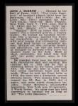 1950 Callahan Hall of Fame #55  John McGraw  Back Thumbnail