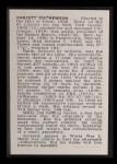 1950 Callahan Hall of Fame #52  Christy Mathewson  Back Thumbnail