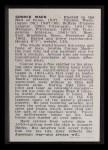 1950 Callahan Hall of Fame #50  Connie Mack  Back Thumbnail