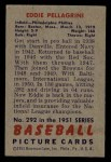 1951 Bowman #292  Eddie Pellagrini  Back Thumbnail