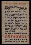 1951 Bowman #104  Virgil Trucks  Back Thumbnail