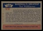 1959 Fleer #50   -  Ted Williams Spring Injury Back Thumbnail