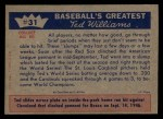 1959 Fleer #31   -  Ted Williams  Sox Lose the Series Back Thumbnail
