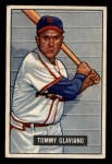 1951 Bowman #301  Tommy Glaviano  Front Thumbnail