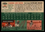 1954 Topps #23  Luke Easter  Back Thumbnail
