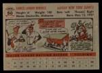 1956 Topps #50  Dusty Rhodes  Back Thumbnail