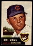 1953 Topps #39  Eddie Miksis  Front Thumbnail