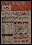 1953 Topps #172  Rip Repulski  Back Thumbnail