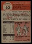 1953 Topps #63  Gus Niarhos  Back Thumbnail