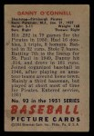 1951 Bowman #93  Danny O'Connell  Back Thumbnail
