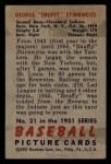 1951 Bowman #21  Snuffy Stirnweiss  Back Thumbnail