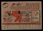 1958 Topps #183  Dave Jolly  Back Thumbnail