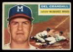 1956 Topps #175  Del Crandall  Front Thumbnail