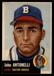 1953 Topps #106  Johnny Antonelli  Front Thumbnail