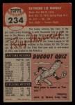 1953 Topps #234  Ray Murray  Back Thumbnail