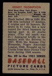 1951 Bowman #89  Henry Thompspn  Back Thumbnail