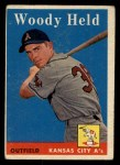 1958 Topps #202  Woodie Held  Front Thumbnail