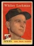 1958 Topps #195  Whitey Lockman  Front Thumbnail