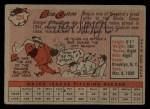 1958 Topps #224  Bob Grim  Back Thumbnail