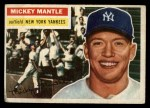 1956 Topps #135  Mickey Mantle  Front Thumbnail