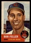 1953 Topps #54  Bob Feller  Front Thumbnail