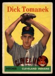 1958 Topps #123  Dick Tomanek  Front Thumbnail
