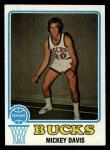 1973 Topps #107  Mickey Davis  Front Thumbnail