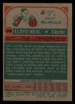 1973 Topps #129  Lloyd Neal  Back Thumbnail