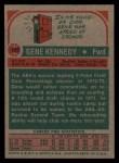 1973 Topps #197  Gene Kennedy  Back Thumbnail