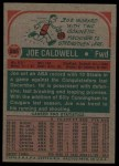 1973 Topps #255  Joe Caldwell  Back Thumbnail