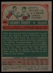1973 Topps #48  Henry Bibby  Back Thumbnail