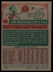 1973 Topps #87  Jim Washington  Back Thumbnail