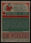 1973 Topps #98  Neal Walk  Back Thumbnail