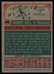1973 Topps #184  Simmie Hill  Back Thumbnail
