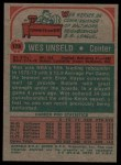 1973 Topps #176  Wes Unseld  Back Thumbnail