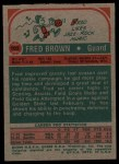 1973 Topps #103  Fred Brown  Back Thumbnail