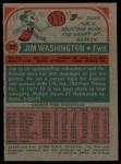 1973 Topps #87  Jim Washington  Back Thumbnail
