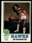 1973 Topps #87  Jim Washington  Front Thumbnail