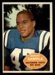 1960 Topps #9  John Sample  Front Thumbnail